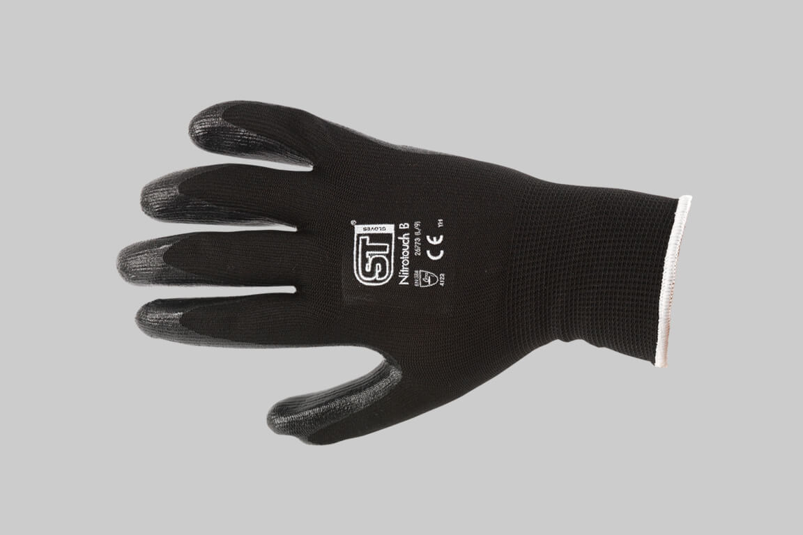 Nitrile Palm Dip Gloves
