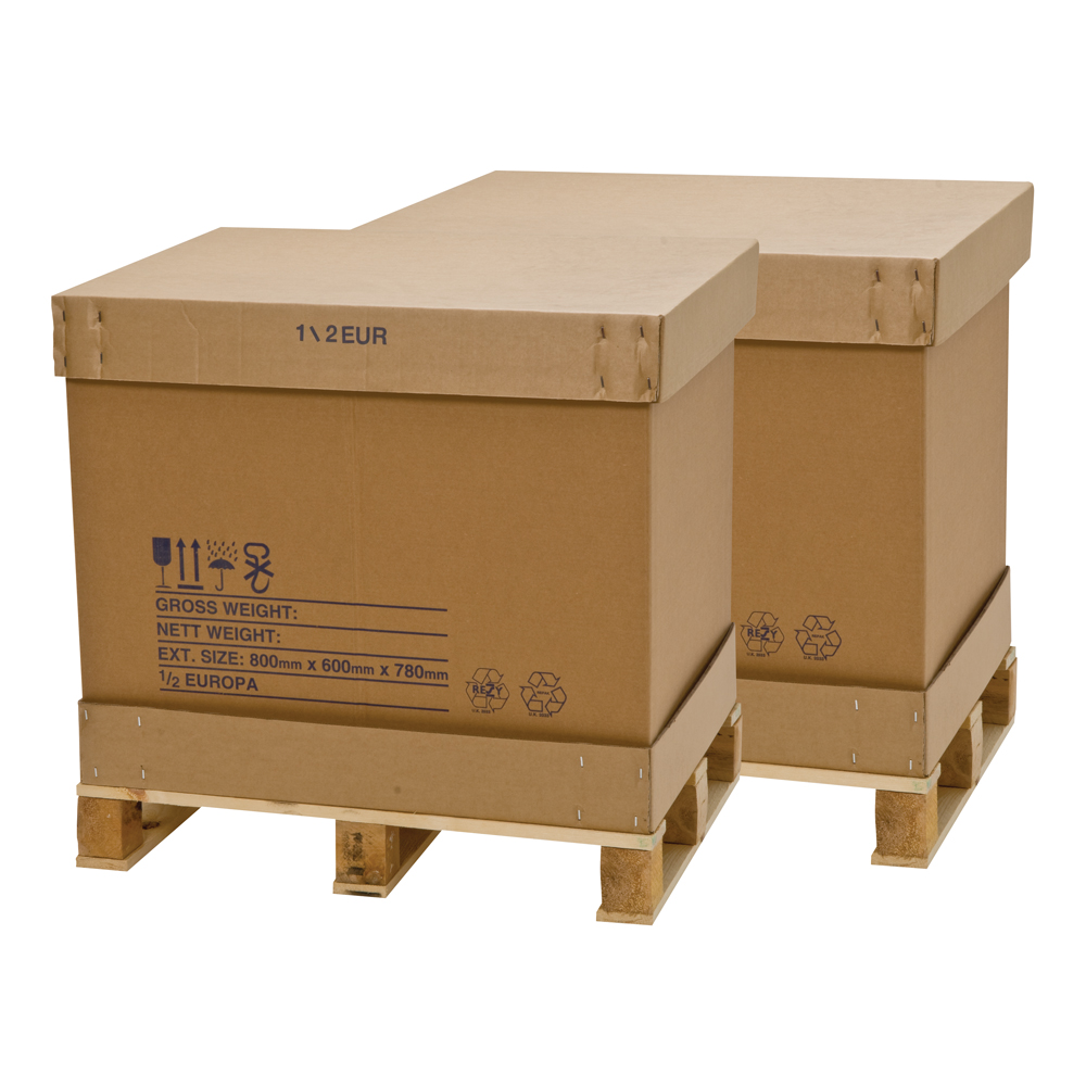 1/2 Europa Pallet Boxes With Pallet 770 x 570 x 660mm