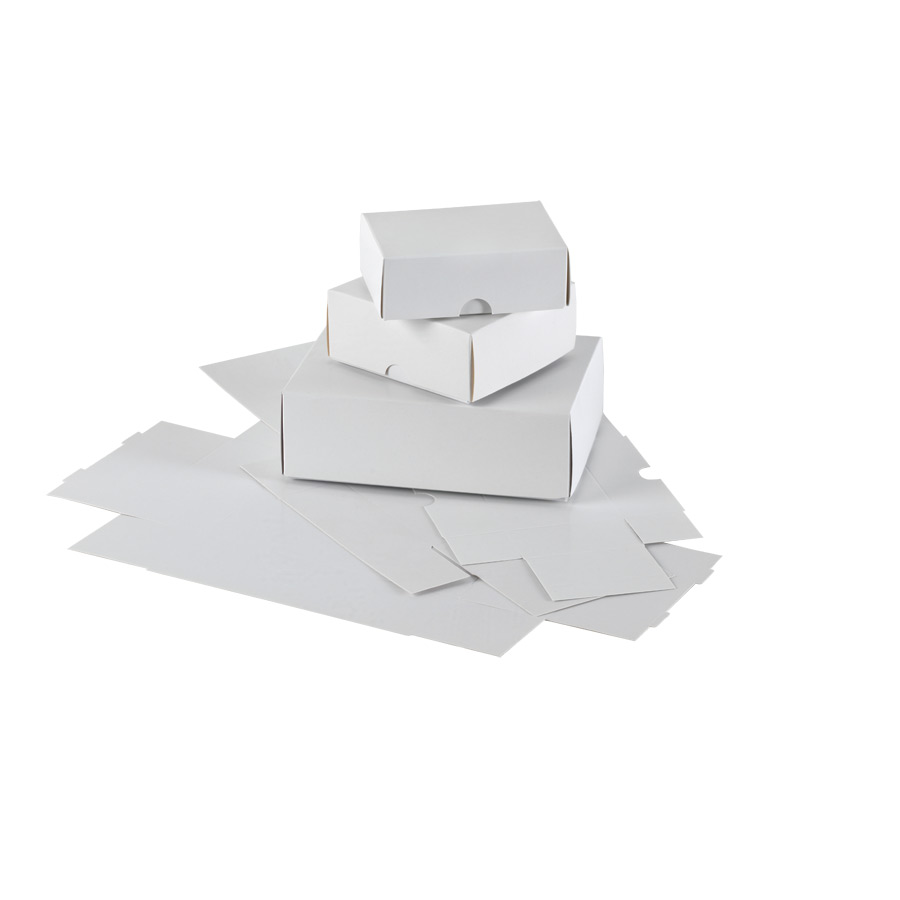 Small Business Card Boxes White die cut box and lid